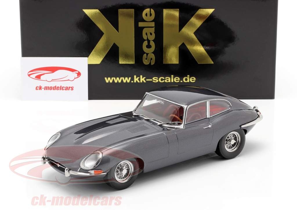 Jaguar E-Type Coupe Series 1 LHD year 1961 grey metallic 1:18 KK-Scale