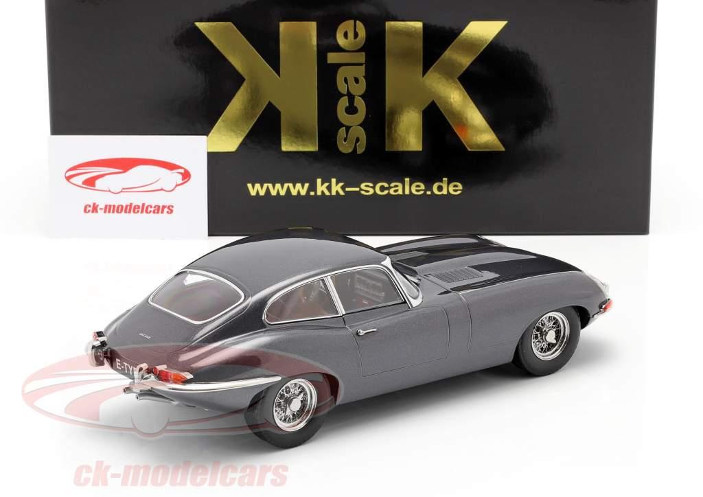 Jaguar E-Type Coupe Series 1 LHD Bouwjaar 1961 Grijs metalen 1:18 KK-Scale