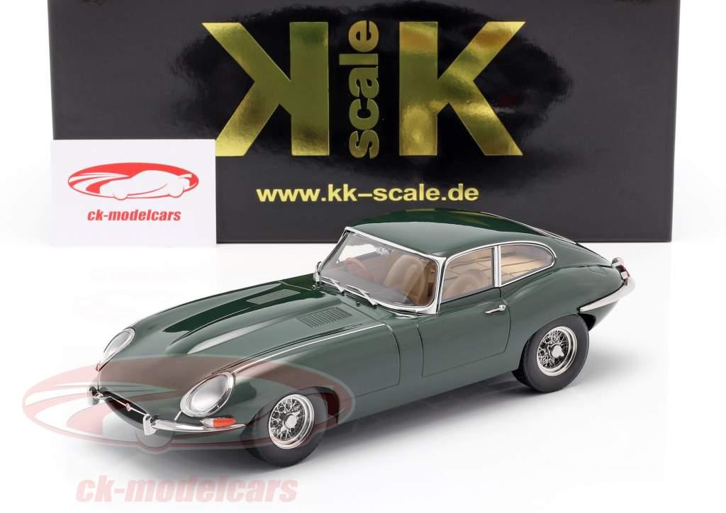 Jaguar E-Type Coupe Series 1 RHD Bouwjaar 1961 donkergroen 1:18 KK-Scale