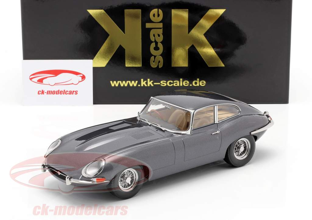 Jaguar E-Type Coupe Series 1 RHD Byggeår 1961 Grå metallisk 1:18 KK-Scale