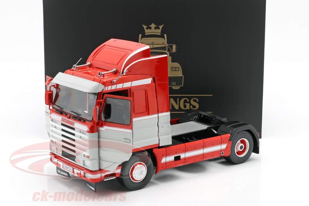 Scania 143 Streamline Sattelzugmaschine 1995 rot / weiß / grau 1:18 Road Kings