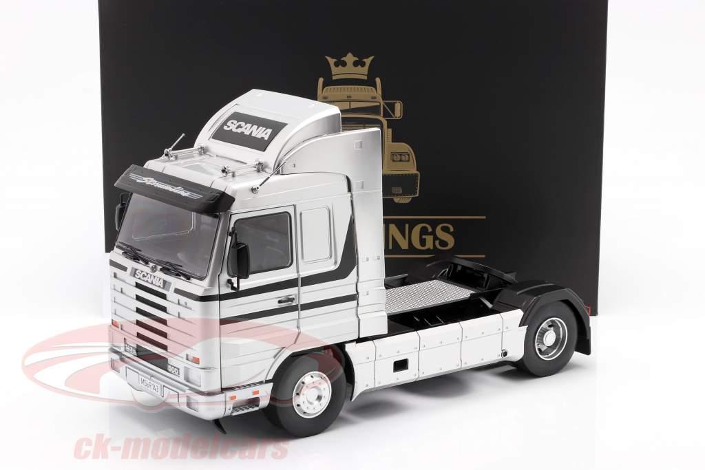 Scania 143 Streamline Camión Año de construcción 1995 plata / negro 1:18 Road Kings
