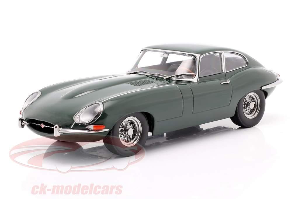 Jaguar E-Type Coupe Series 1 LHD Bouwjaar 1961 donkergroen 1:18 KK-Scale