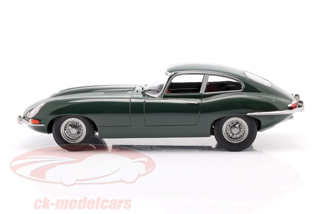 Jaguar E-Type Coupe Series 1 LHD Byggeår 1961 mørkegrøn 1:18 KK-Scale
