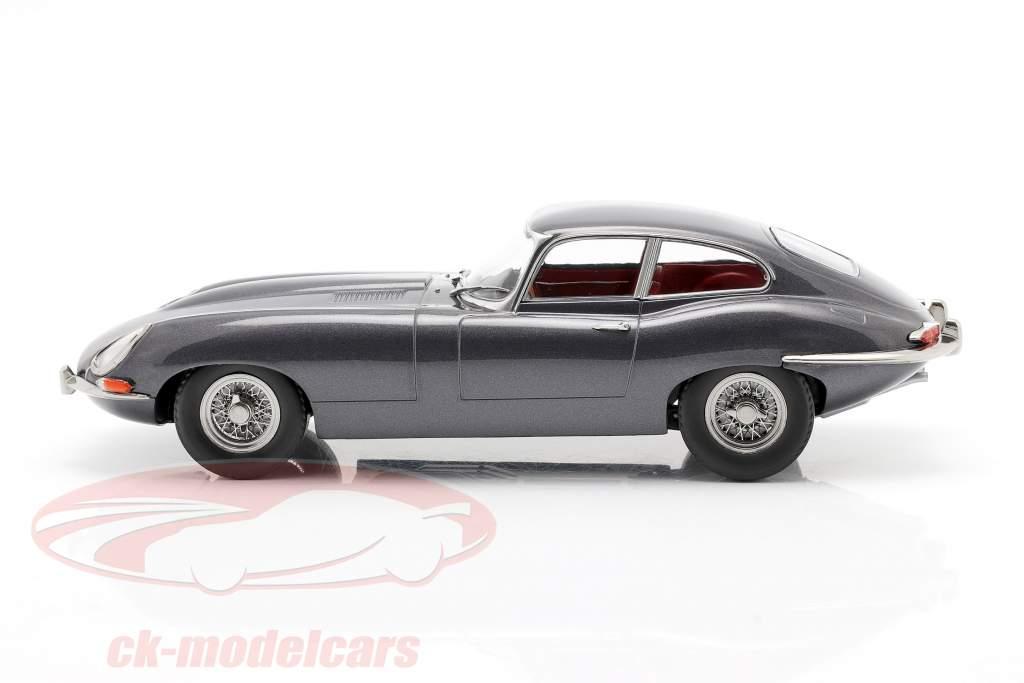 Jaguar E-Type Coupe Series 1 LHD Byggeår 1961 Grå metallisk 1:18 KK-Scale