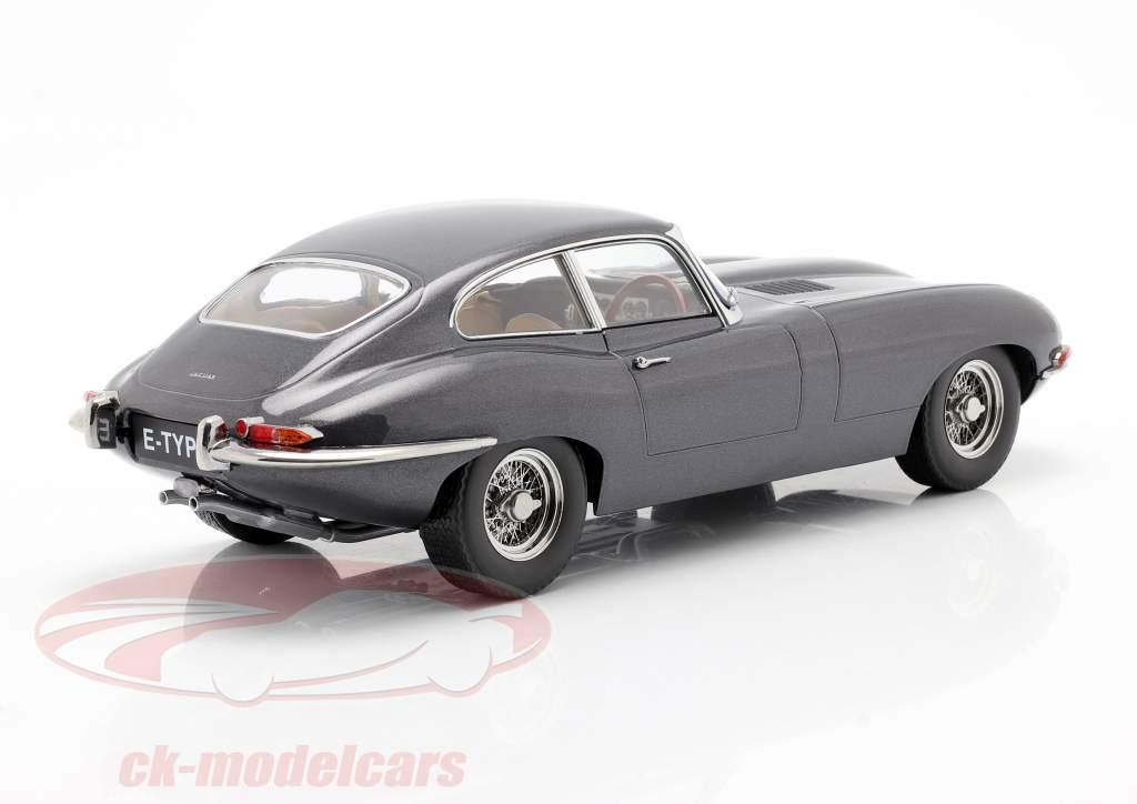 Jaguar E-Type Coupe Series 1 RHD Ano de construção 1961 cinzento metálico 1:18 KK-Scale