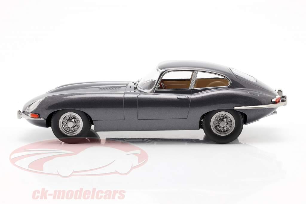 Jaguar E-Type Coupe Series 1 RHD Année de construction 1961 gris métallique 1:18 KK-Scale