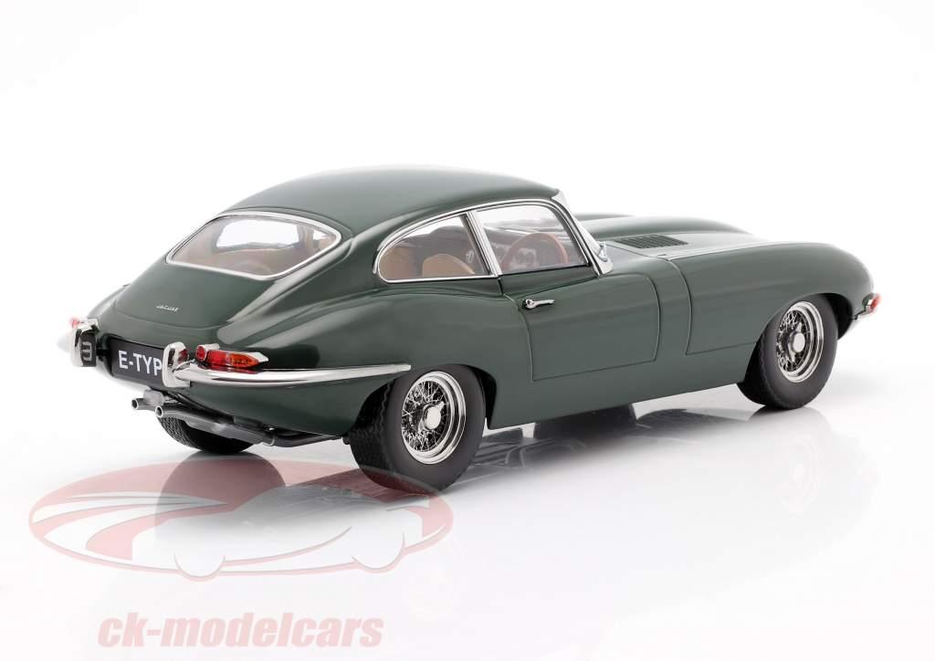 Jaguar E-Type Coupe Series 1 RHD Byggeår 1961 mørkegrøn 1:18 KK-Scale