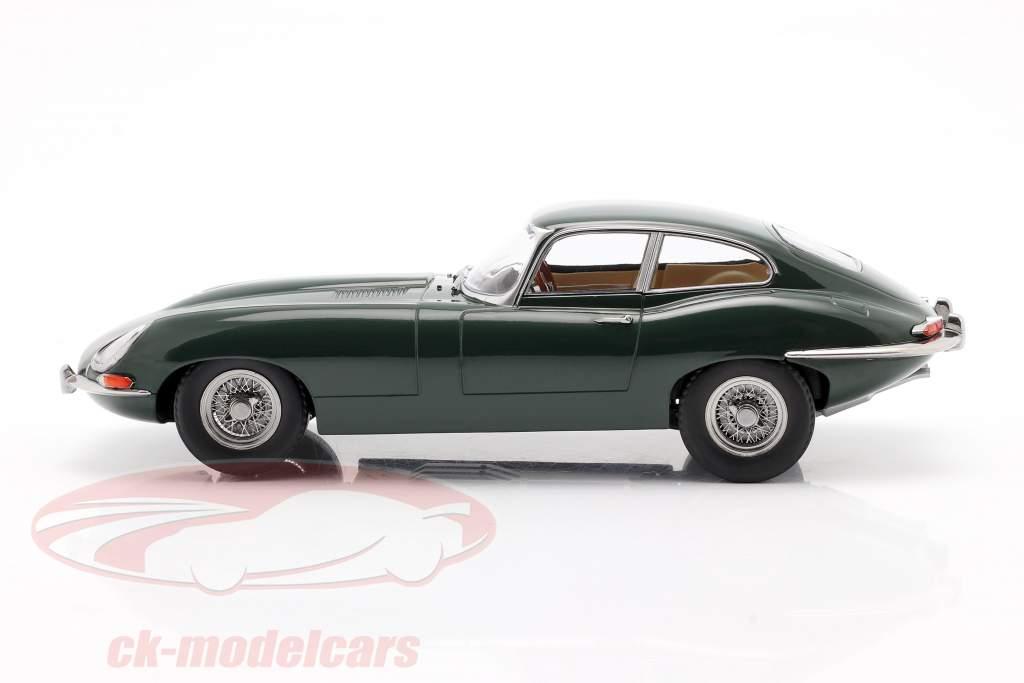 Jaguar E-Type Coupe Series 1 RHD Anno di costruzione 1961 verde scuro 1:18 KK-Scale