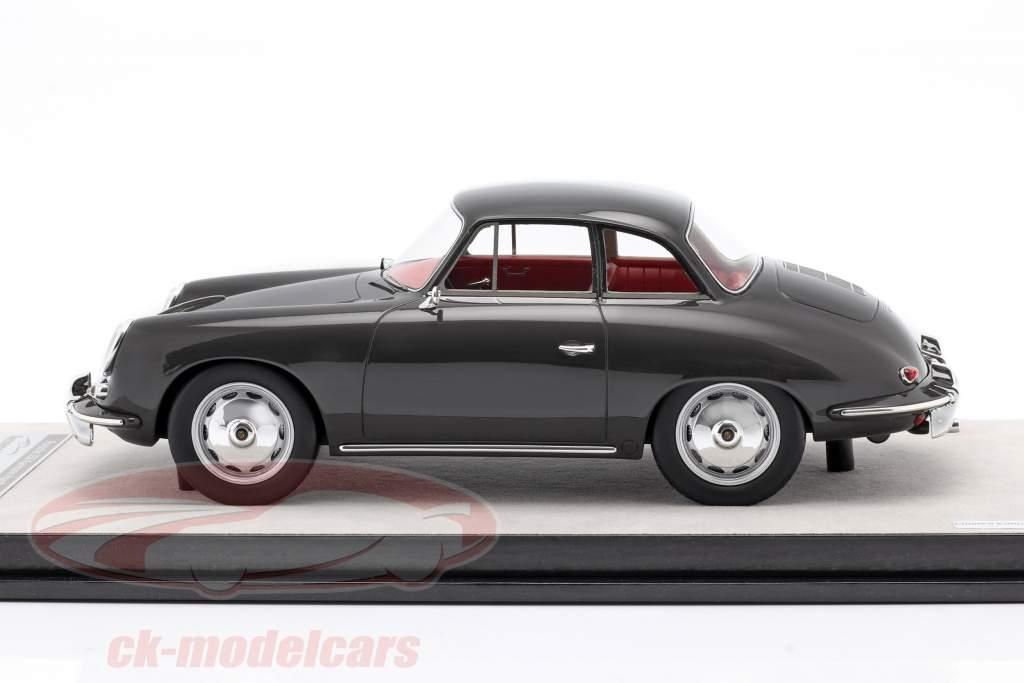 Porsche 356 Karmann Svært top år 1961 glans mørk grå 1:18 Tecnomodel