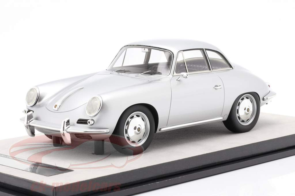 Porsche 356 Karmann Hard-top an 1961 argent métallique 1:18 Tecnomodel