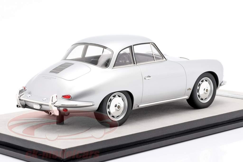 Porsche 356 Karmann Techo rígido año 1961 plata metálico 1:18 Tecnomodel