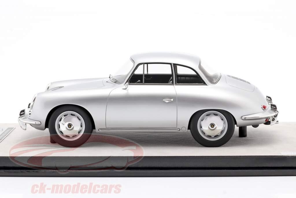 Porsche 356 Karmann Hardtop year 1961 silver metallic 1:18 Tecnomodel