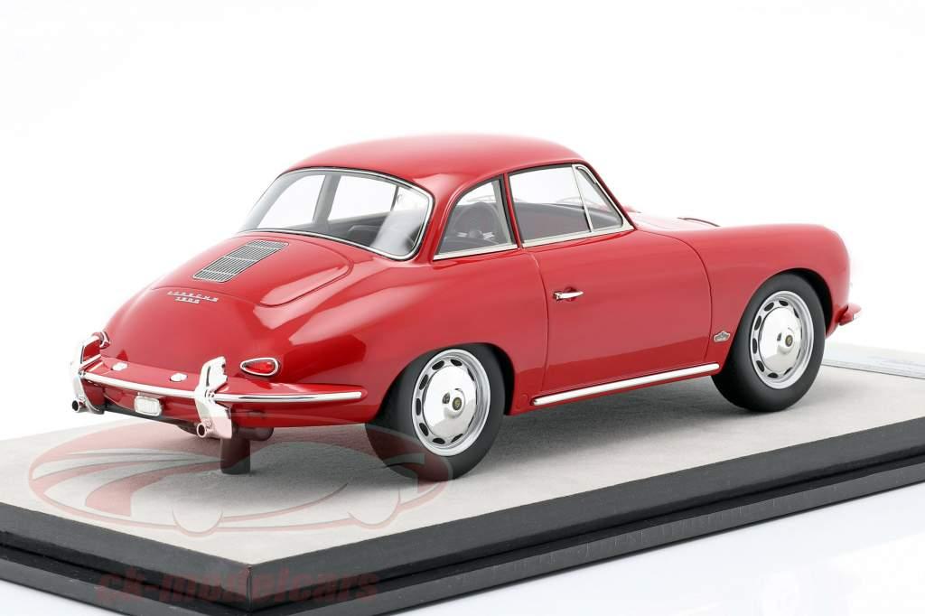Porsche 356 Karmann Dur Haut an 1961 brillant rouge 1:18 Tecnomodel
