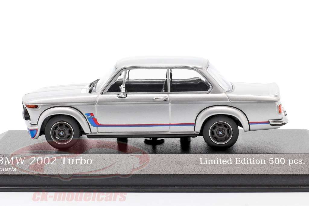 BMW 2002 Turbo (E20) year 1973 silver 1:43 Minichamps