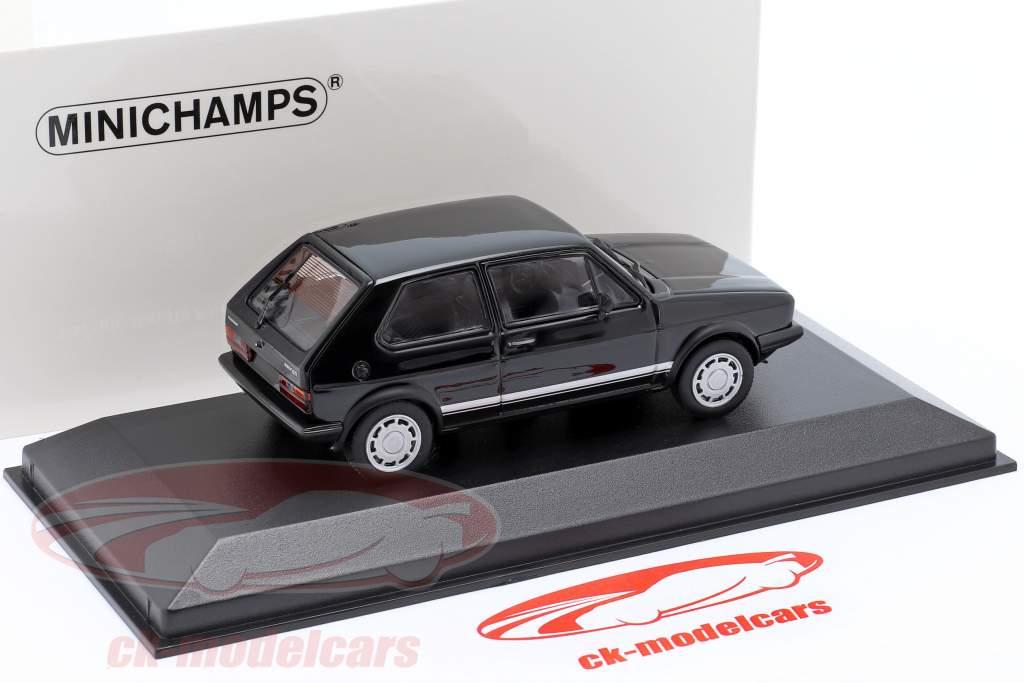 Volkswagen VW Golf 1 GTi Ano de construção 1983 Preto 1:43 Minichamps