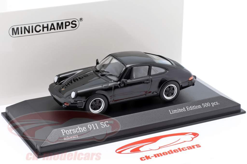 Porsche 911 SC Coupe Bouwjaar 1979 zwart 1:43 Minichamps