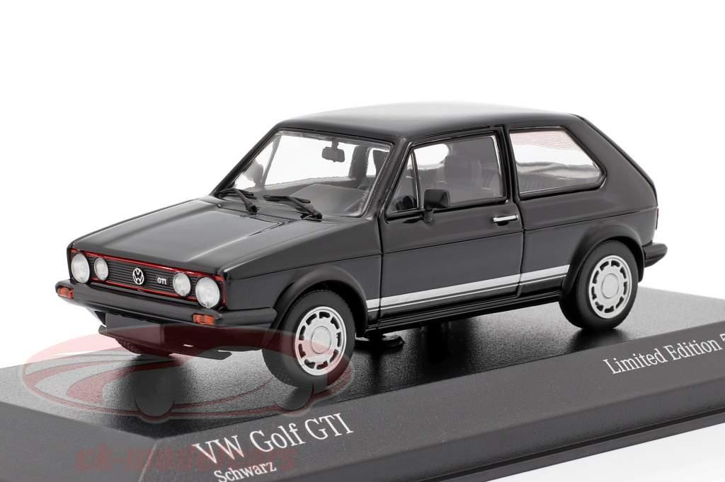 Volkswagen VW Golf 1 GTi Byggeår 1983 sort 1:43 Minichamps