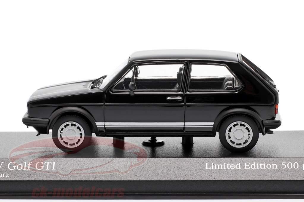 Volkswagen VW Golf 1 GTi Année de construction 1983 noir 1:43 Minichamps