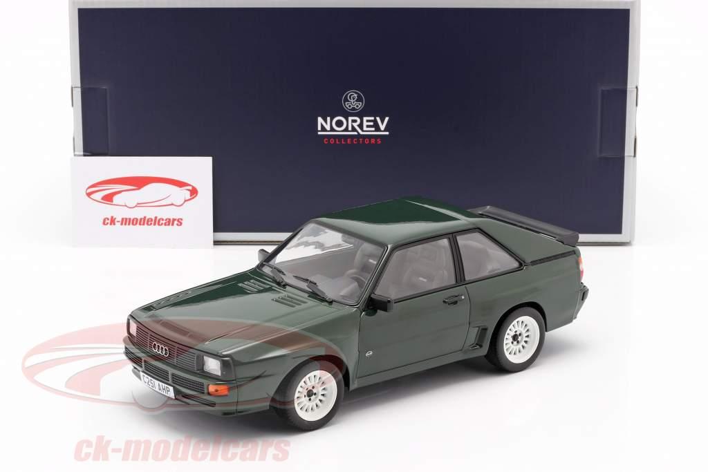 Audi Sport Quattro Année de construction 1985 vert foncé 1:18 Norev
