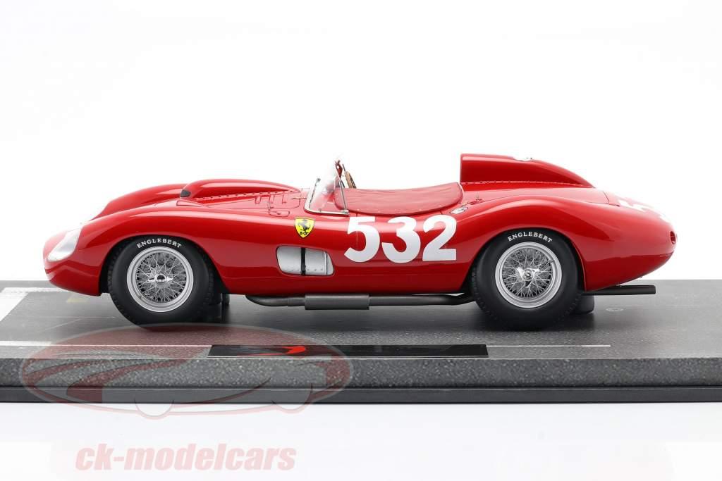 Ferrari 315 Sport #532 2. plads Mille Miglia 1957 Graf Berghe von Trips 1:18 BBR