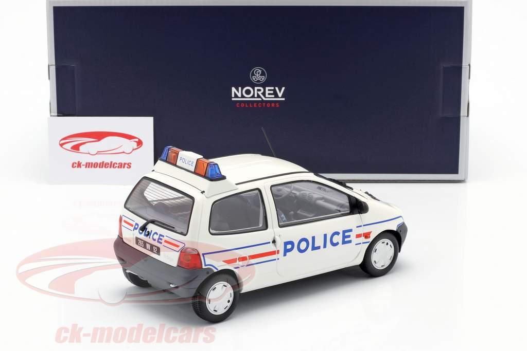 Renault Twingo Politie jaar 1995 wit / blauw 1:18 Norev