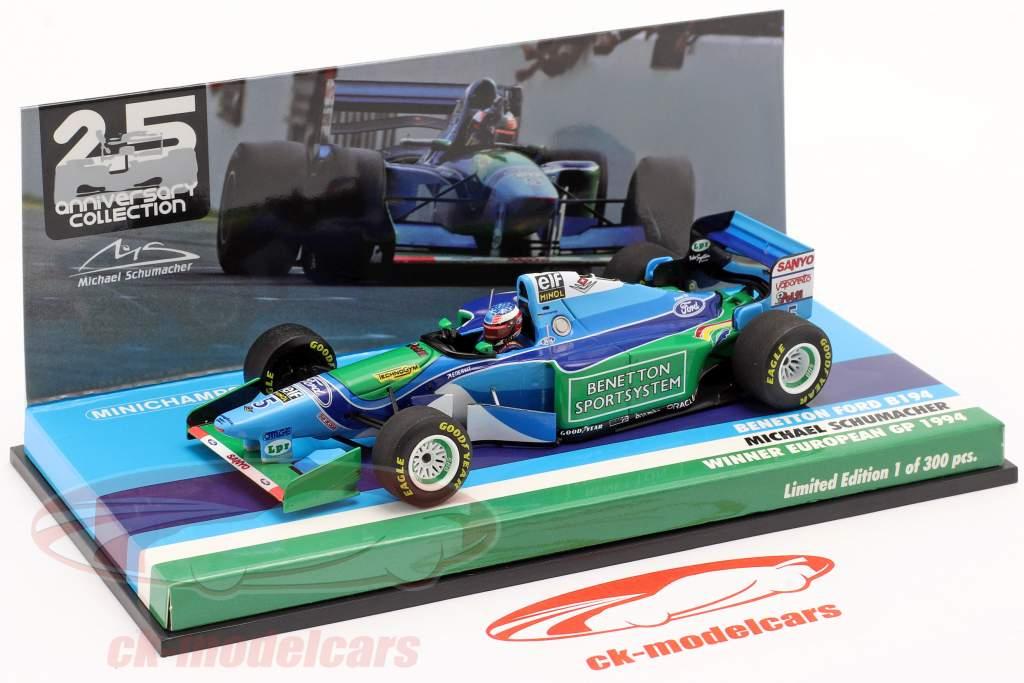 M. Schumacher Benetton B194 #5 European GP F1 World Champion 1994 1:43 Minichamps