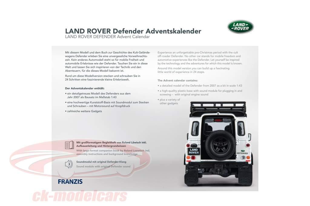 Land Rover Defender advent Calendar 2020: Land Rover Defender white 1:43 Franzis