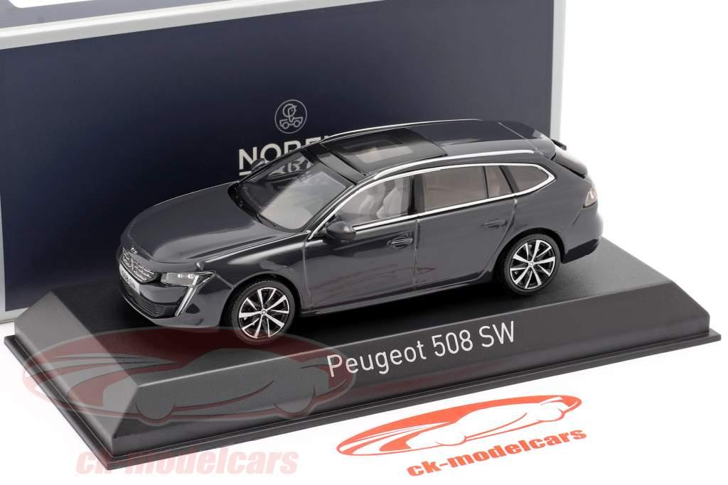 Peugeot 508 SW year 2018 hurricane grey 1:43 Norev