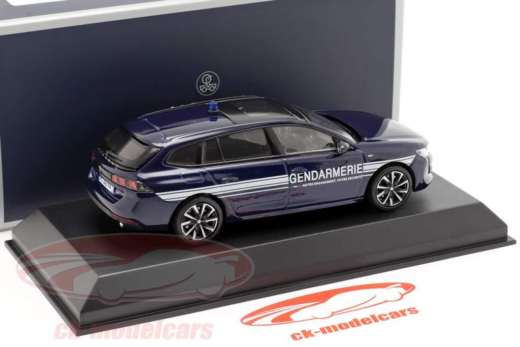 Peugeot 508 SW GT Gendarmerie year 2019 dark blue 1:43 Norev