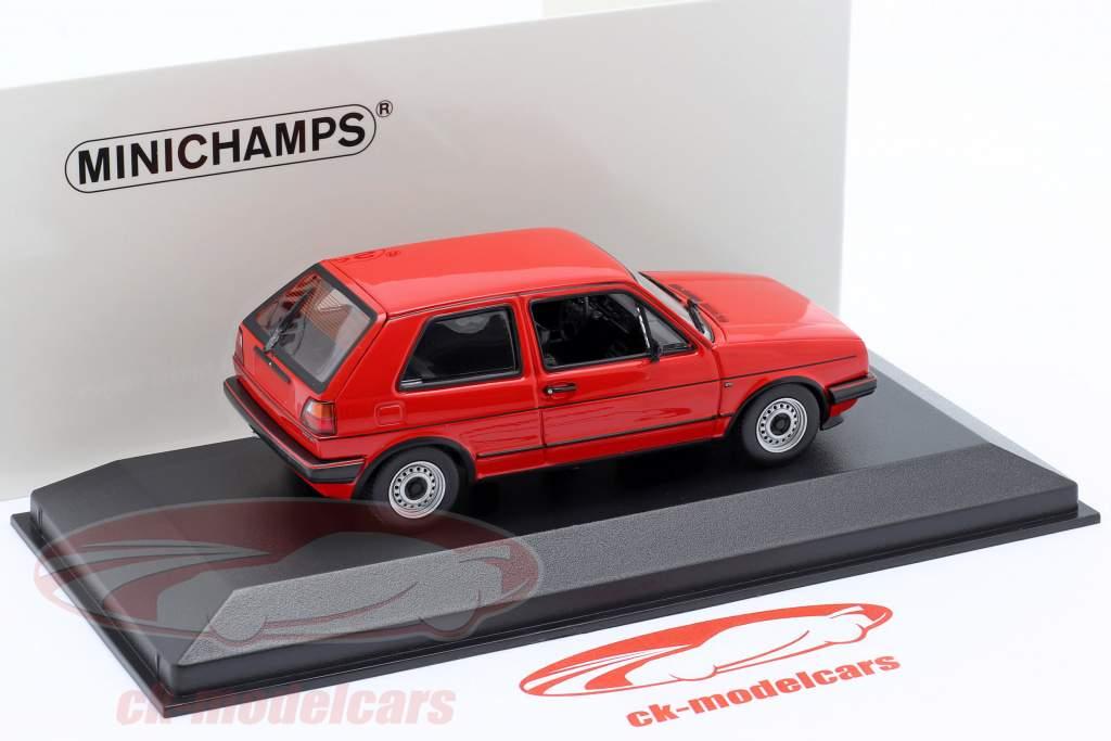 Volkswagen VW Golf II GTi Année de construction 1985 tornade rouge 1:43 Minichamps