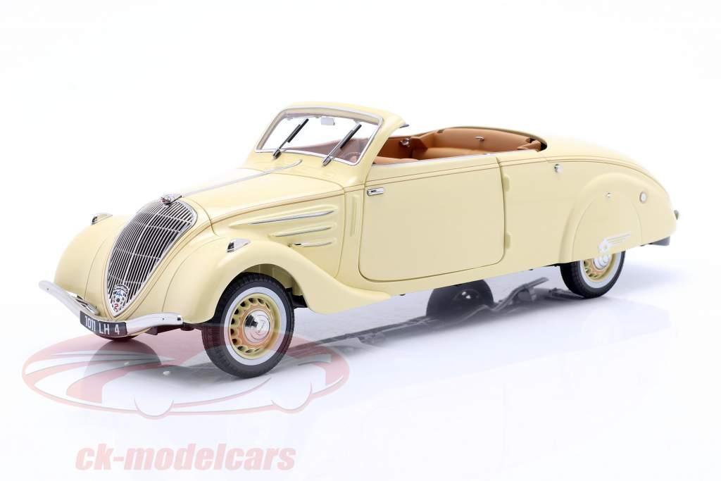 Peugeot 402 Eclipse Byggeår 1937 beige / karamel 1:18 Norev