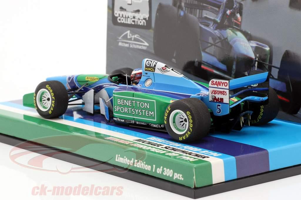 M. Schumacher Benetton B194 #5 europæisk GP F1 Verdensmester 1994 1:43 Minichamps