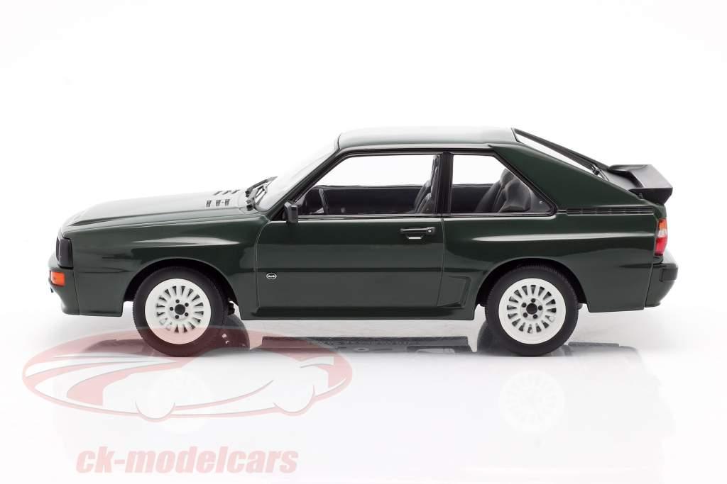 Audi Sport Quattro Byggeår 1985 mørkegrøn 1:18 Norev
