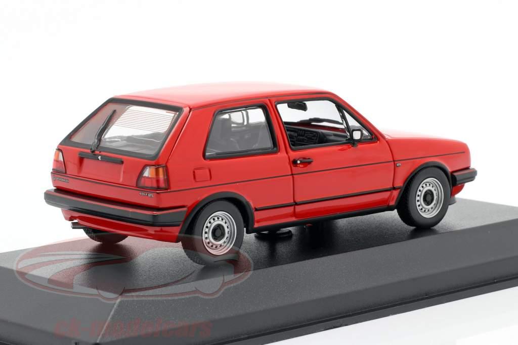 Volkswagen VW Golf II GTi Baujahr 1985 tornadorot 1:43 Minichamps
