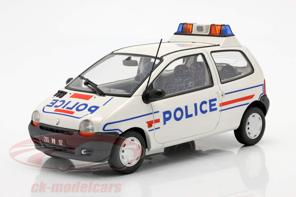 Renault Twingo 警察 年 1995 白色 / 蓝色 1:18 Norev