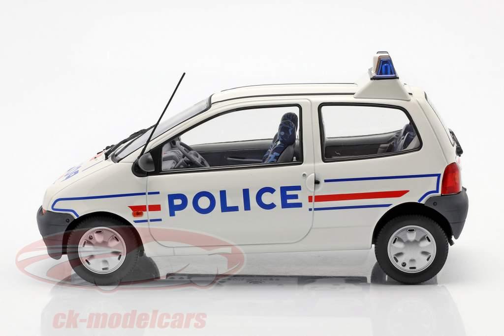 Renault Twingo polícia ano 1995 branco / azul 1:18 Norev