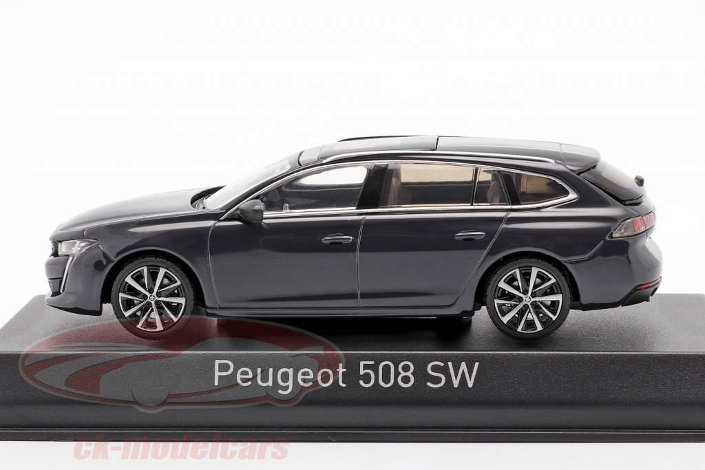 Peugeot 508 SW Année de construction 2018 ouragan gris 1:43 Norev