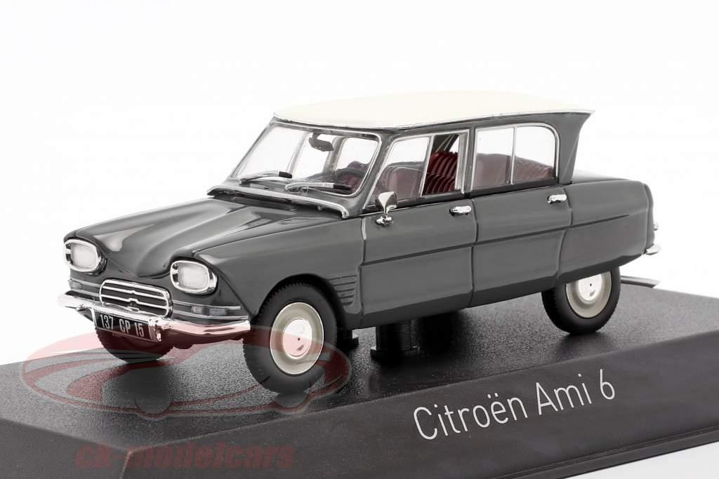 Citroen Ami 6 Baujahr 1967 grau 1:43 Norev