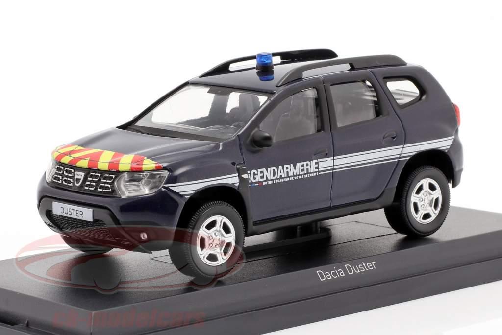 Dacia Duster Gendarmerie year 2018 dark blue 1:43 Norev
