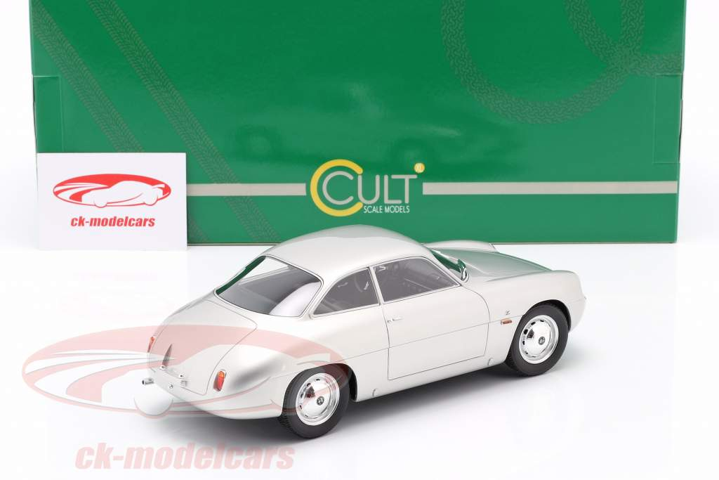 Alfa Romeo Giulietta Sprint Zagato (SZ) 1961 sølv 1:18 Cult Scale
