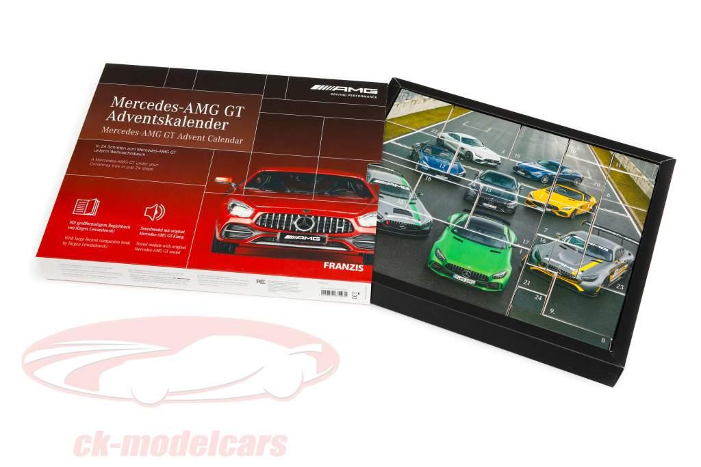 Mercedes-AMG GT adventskalender 2020: Mercedes-Benz AMG GT rød 1:43 Franzis