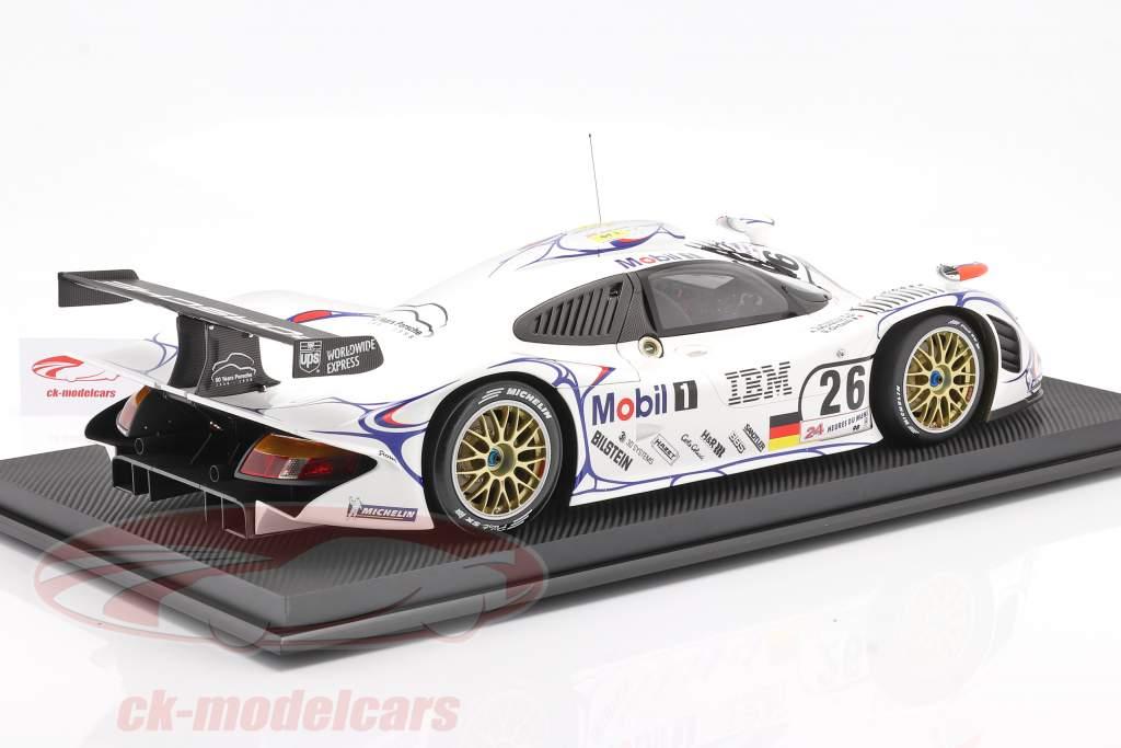 Porsche 911 GT1 #26 vencedora 24h LeMans 1998 McNish, Aiello, Ortelli 1:8 Amalgam