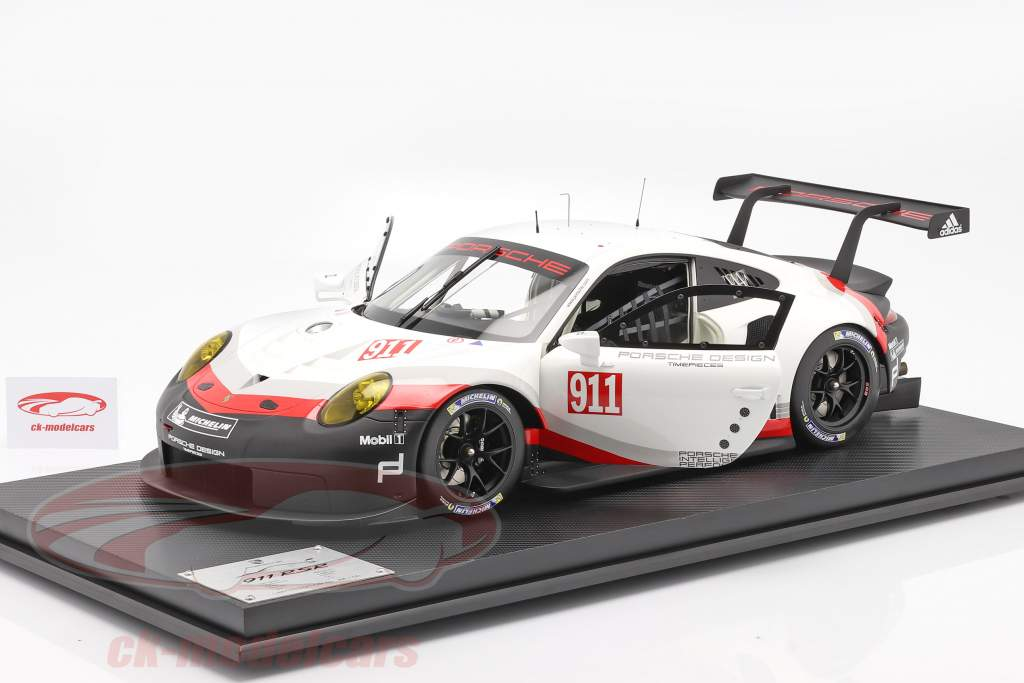 Porsche 911 (991 II) RSR #911 Año de construcción 2017 Blanco / negro 1:8 Amalgam