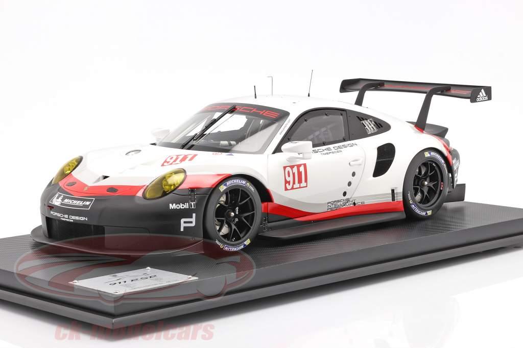Porsche 911 (991 II) RSR #911 Bouwjaar 2017 Wit / zwart 1:8 Amalgam