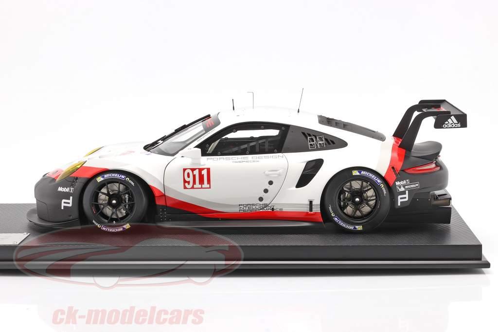 Porsche 911 (991 II) RSR #911 Année de construction 2017 blanc / noir 1:8 Amalgam