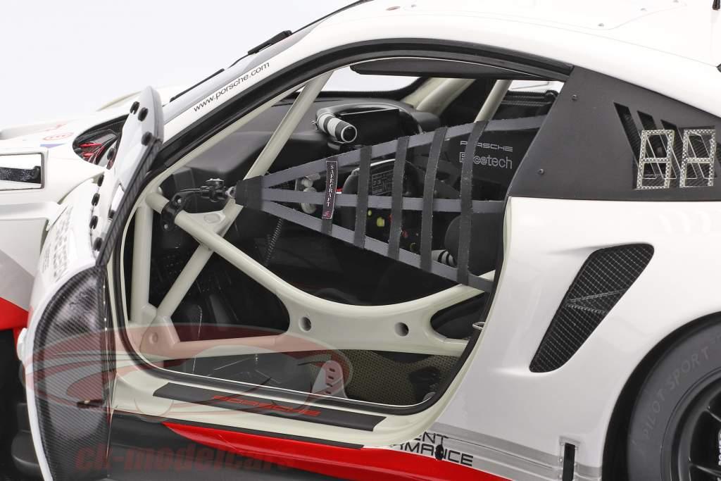 Porsche 911 (991 II) RSR #911 Anno di costruzione 2017 bianca / nero 1:8 Amalgam