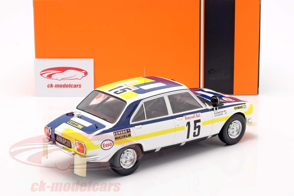 Peugeot 504 Ti #15 2. plads Rallye Marokko 1975 Consten, Flocon 1:18 Ixo
