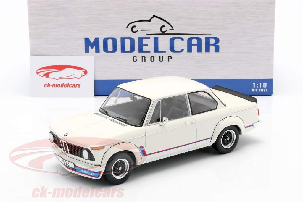 BMW 2002 Turbo (E20) Anno di costruzione 1973 bianca 1:18 Model Car Group