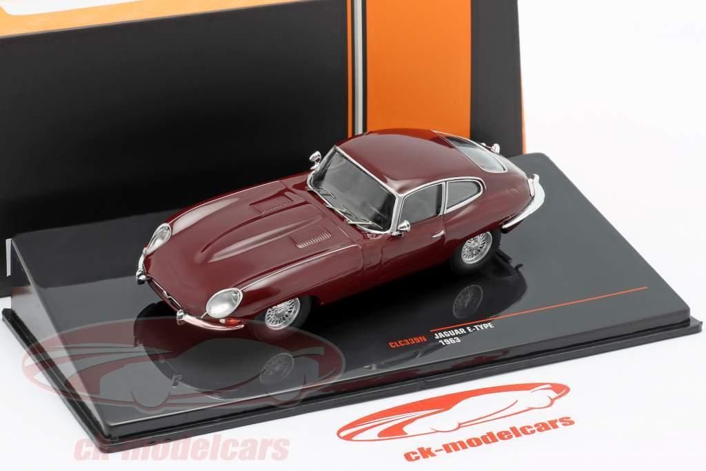 Jaguar E-Type Año de construcción 1963 oscuro rojo 1:43 Ixo